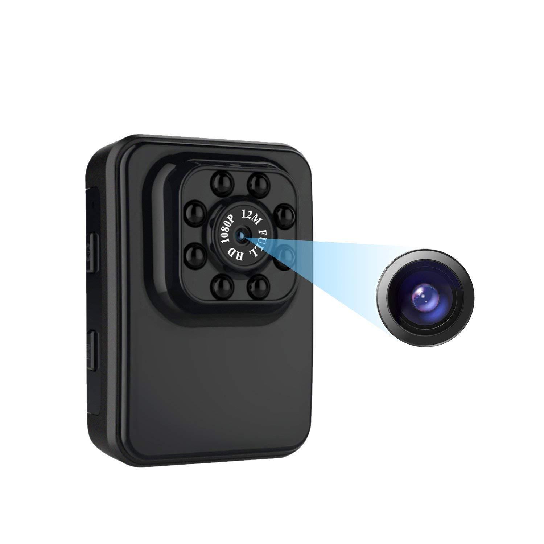 C-Xka Mini cámara espía 1080P Cámaras Ocultas Full HD con detección de Movimiento/visión Nocturna para iPhone/Android Phone/iPad / PC, Lente Gran Angular, ...