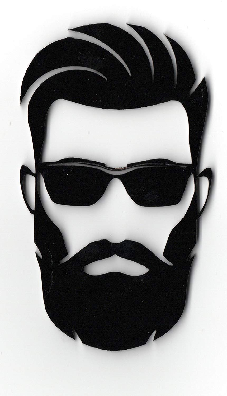Easy4buy beard man 3d latest car bike sticker logo decal emblem amazon in car motorbike