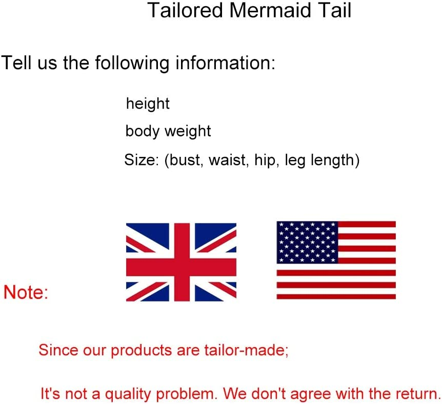 RKRZLB Mermaid Swimsuit With Monofin,Bikini Swimming Costumes With Colorful Fin,Girls Mermaid Tails For Swimming swimsuit mermaid tail for girls Style W