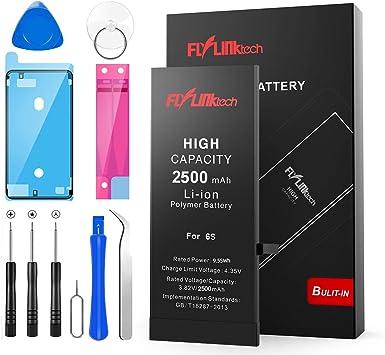 Batería para iPhone 6s 2500mAH con 46% más de Capacidad Que la batería Origina, FLYLINKTECH Reemplazo de Alta Capacidad Batería para iPhone 6s con ...
