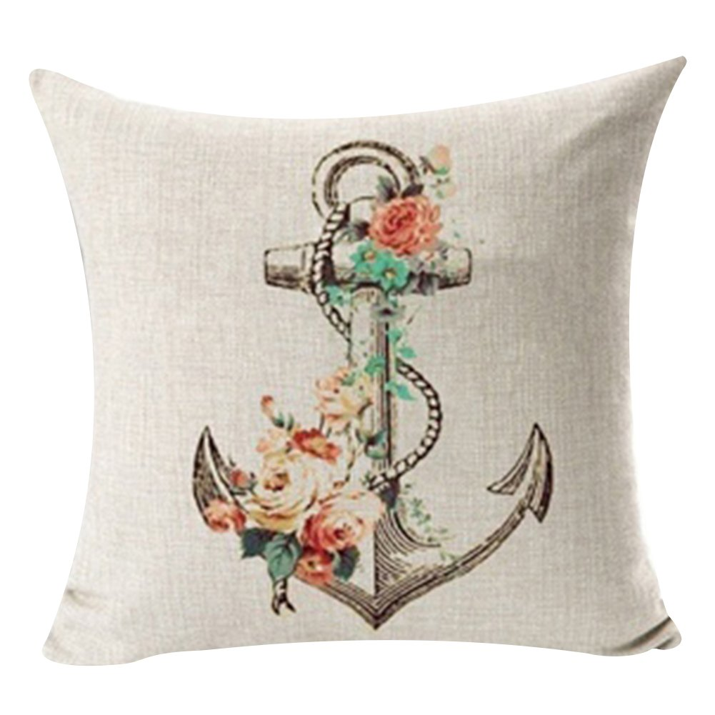good01 Fashion Home Decor Linen CushionThrow Pillow Cover Case for Sofa Office