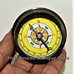 Nautical World Antique Brass Compass Open FACE Gift for Men & Woman Steampunk Navigation 11