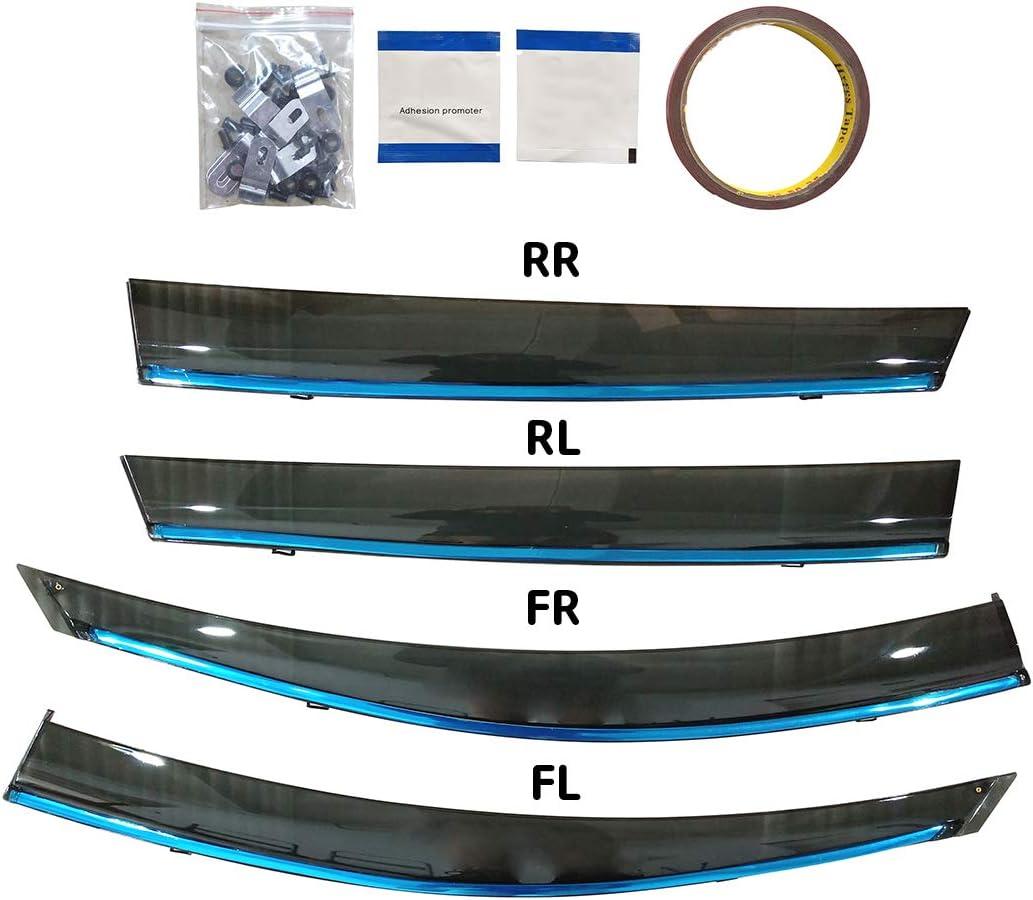 saitake Deflecteurs dair pour T oyota RAV4 XA40 2014-2018 D/éflecteurs de Vent Fen/être Visi/ère Pare-Soleil Pare-Pluie Pare-fum/ée Protection