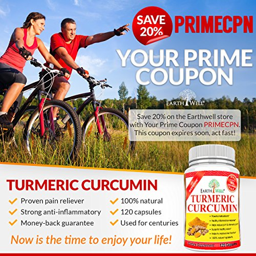 61MHImAfm%2BL - EarthWell Turmeric Curcumin Extract Anti-inflammatory Supplement, 650mg (120 Capsules)