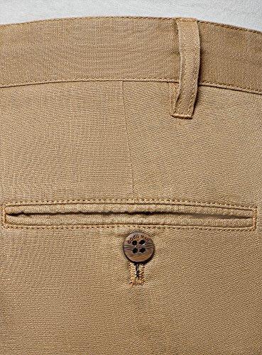 Oodji Beige Cordones Pantalones Hombre Con 3300o Cortos De Ultra Lino 8argw8