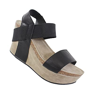 YOKI Women's HESTRY Wedge Sandals   Sandals