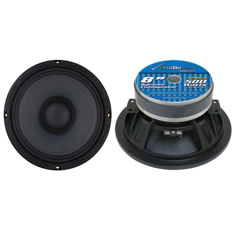 2) AUDIOPIPE APMB8 8'' 1000W Low/Mid Bass Frequency Loudspeakers Speakers APMB-8