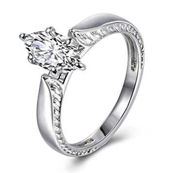 Diamond Wedding Ring for Women Princess Crown with Simulated Cubic Zirconia Elegant Minimalist Ring Jewelry Gift