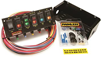 Amazon.com: Painless Wiring 50302 Race Car 6 Switch Panel: Automotive   Advanced Race Car Wiring      Amazon.com