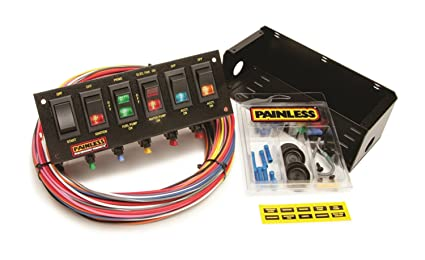 61MHJxfxgUL._SX425_ amazon com painless wiring 50302 race car 6 switch panel automotive