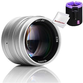 7 artesanos 50 mm f1.1 gran apertura vertical fijo lente de enfoque para cámaras Leica M-Mount y Sony E-Mount cámaras Con Caden Lente bolsa bolsa, ...