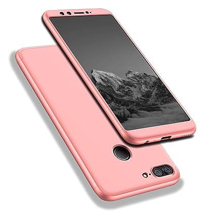 Huawei Honor 9 Lite Funda, WindCase 360 Grados Cuerpo Completo Protección 3 en 1 Duro PC Funda Anti-rasguños Carcasa para Huawei Honor 9 Lite Rose Oro ...