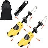 Halcent Professional Shoe Stretchers Pair of Two-Way Plastic Shoe Tree with Shoe Horn,Stretches Length and Width Shoe Stretcher for Women and Men(Medium)