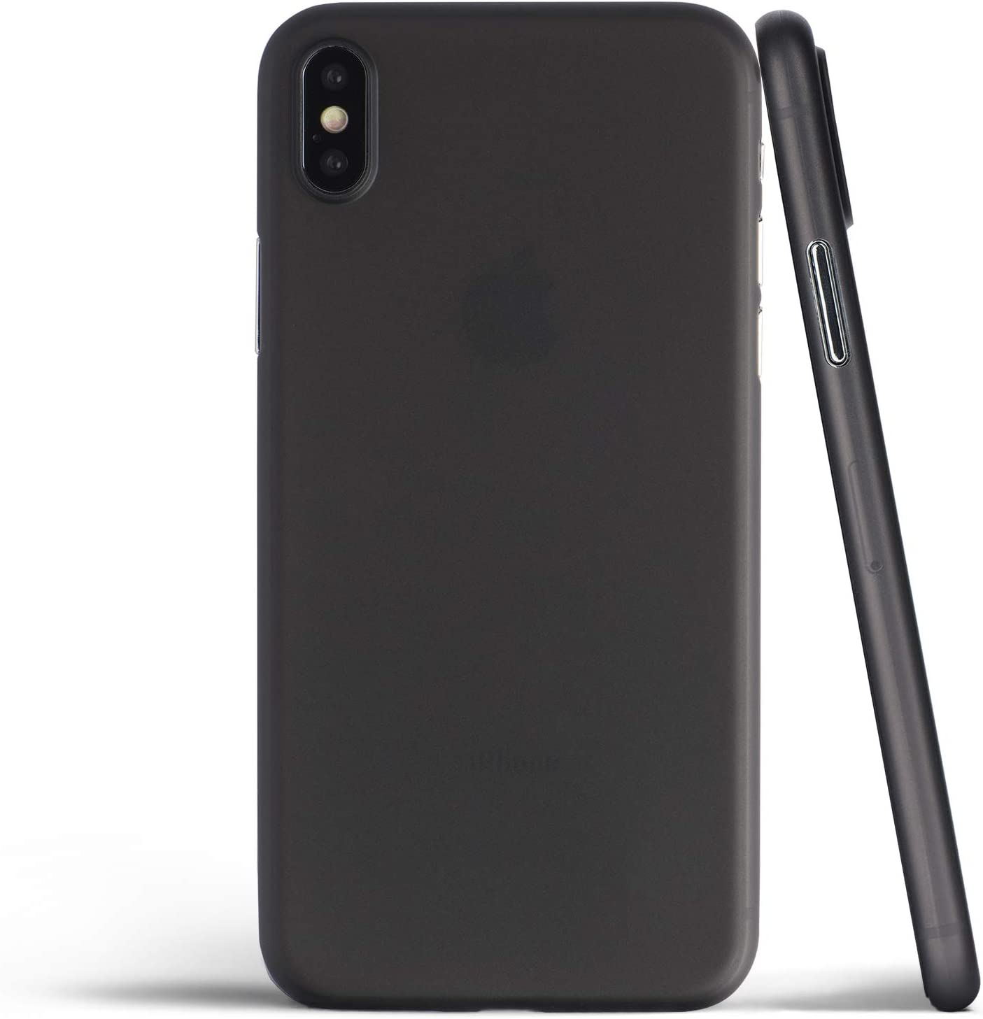 Thin iPhone Xs Max Case, Thinnest Cover Ultra Slim Minimal - for Apple iPhone Xs Max (2018) - totallee (Frosted Black)