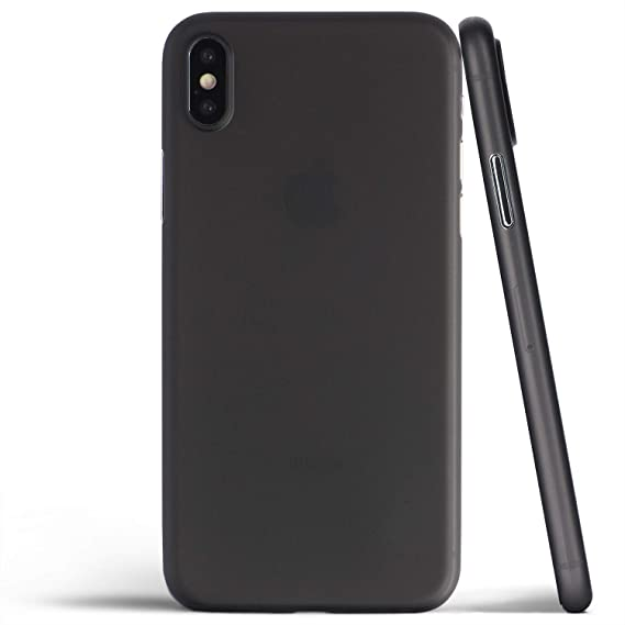 reputable site 2175b 58a1d totallee Thin iPhone Xs Max Case, Thinnest Cover Ultra Slim Minimal - for  Apple iPhone Xs Max (2018) (Frosted Black)