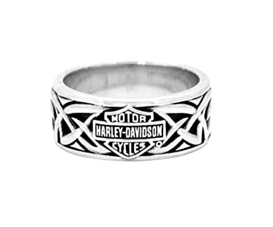 Harley Davidson Wedding Rings.Harley Davidson Mens 925 Silver Celtic B S Band Ring
