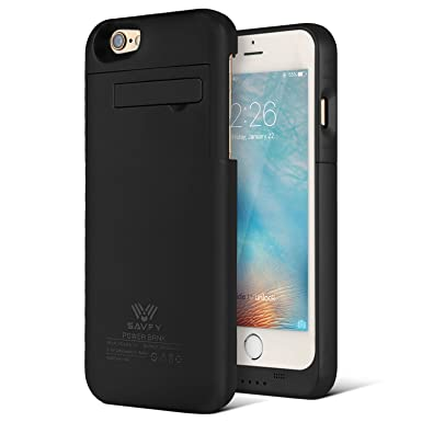 low priced a4187 5b462 SAVFY iPhone 6S/iPhone 6 Battery Case, iPhone Battery Case 3200mAh External  Backup Power Battery Charger Case Cover with Kickstand for iPhone 6/6S 4.7  ...