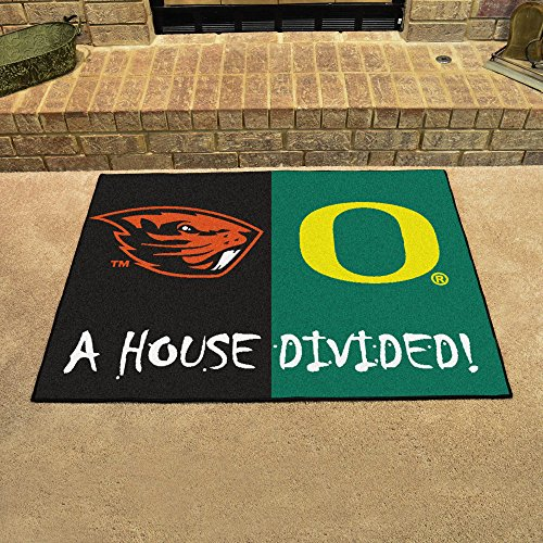 - Fanmats Home Indoor sports Team Logo Mat Oregon - Oregon State House Divided Rugs 34