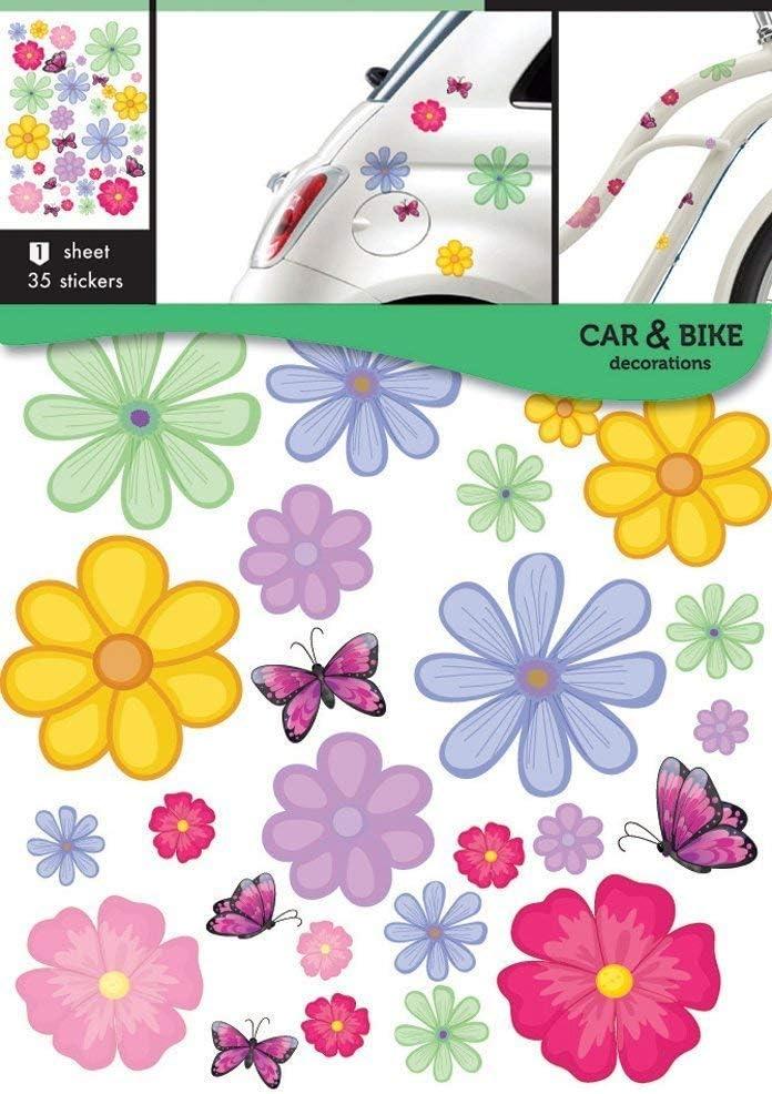 Etiquetas engomadas de la bici del coche