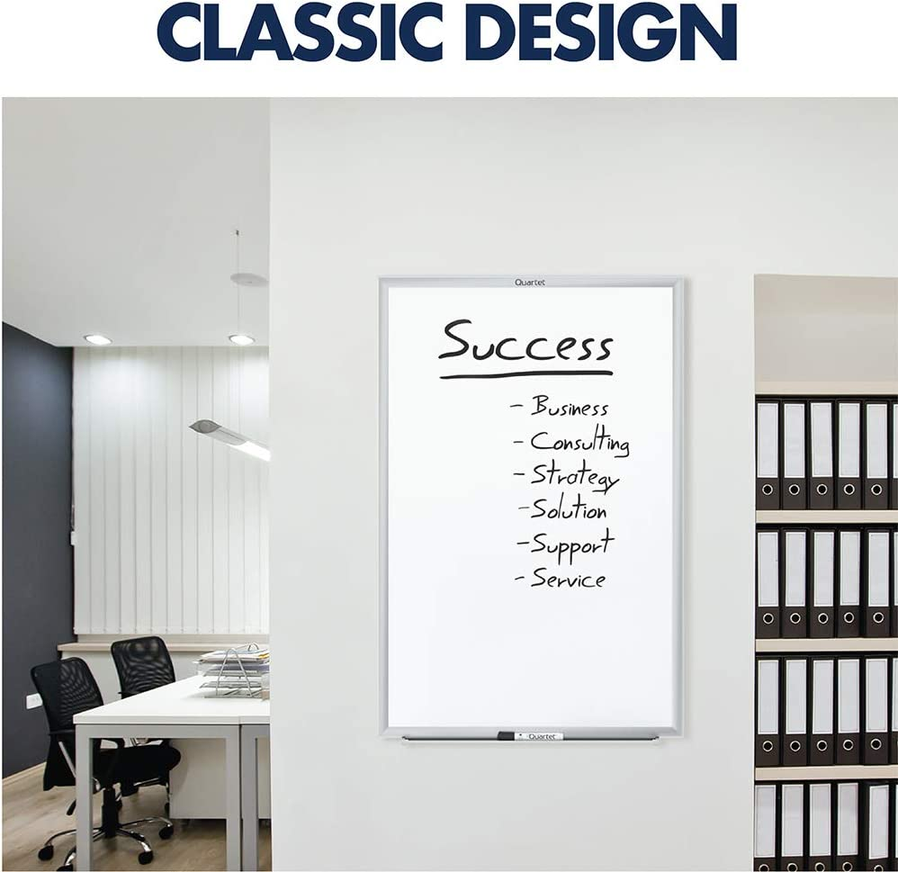 Quartet Magnetic Whiteboard, 8' x 4' White Board, Nano-Clean, Silver Aluminum Frame (SM538) : Office Products