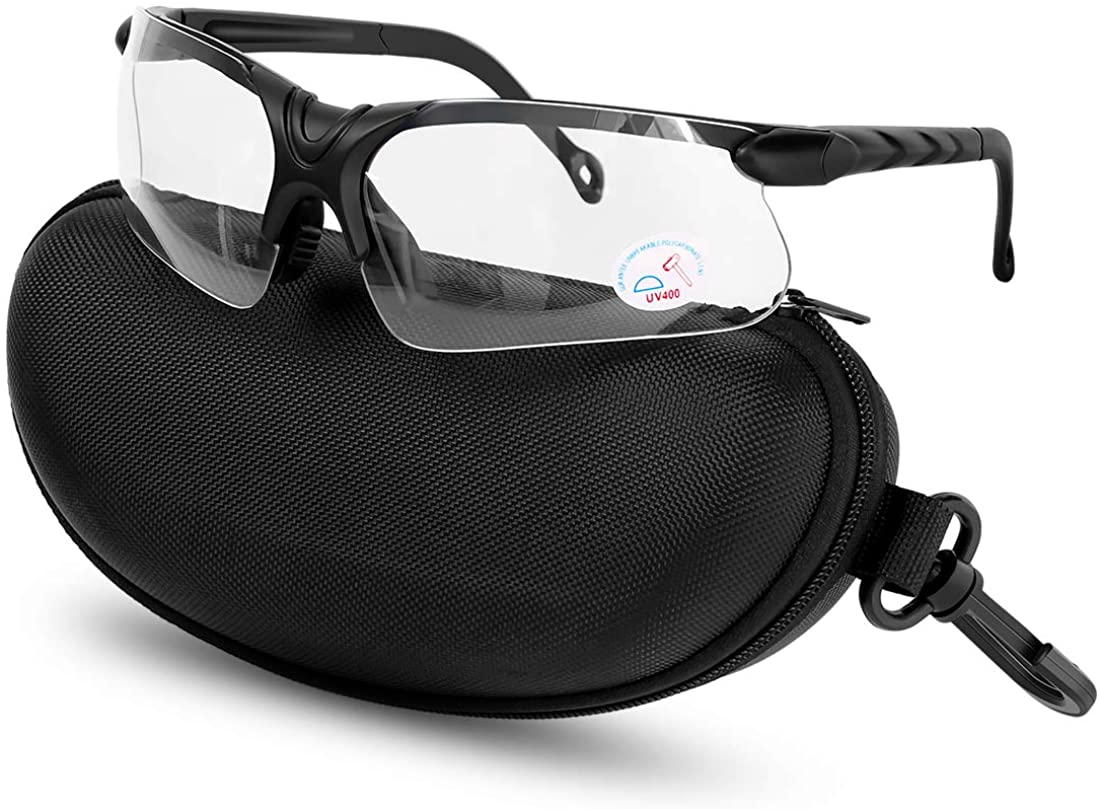 XAegis Shooting Glasses with Case Anti Fog Hunting Safety Glasses for Men Women