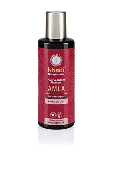 Khadi Ayurvedisches Shampoo Amla 210ml I Natürliches Haar Shampoo