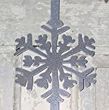 North Country Wind Bells Wreath Hanger, Silver Snowflake