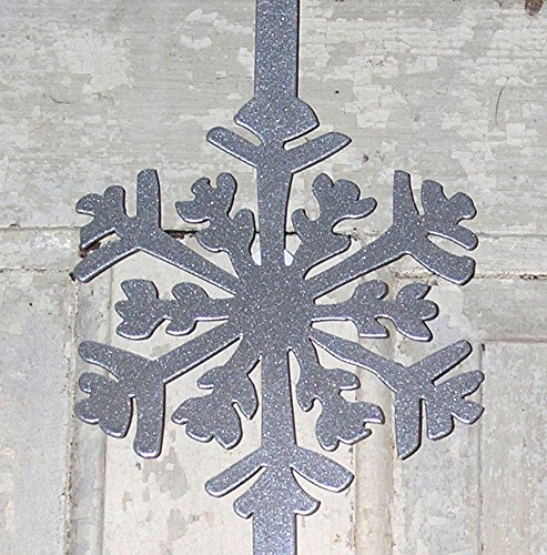 North Country Wind Bells Wreath Hanger, Silver Snowflake (Bell Wreath Silver)