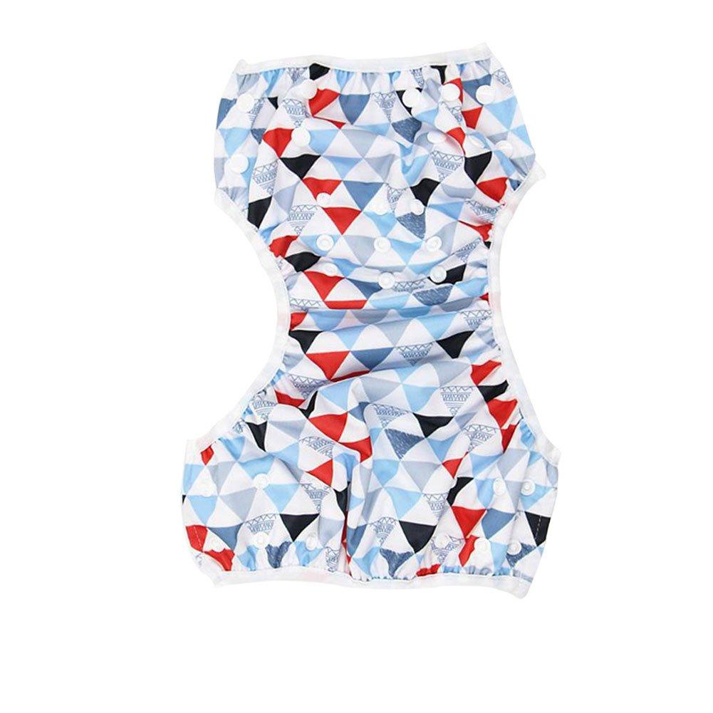 Azul Pa/ñal de Nataci/ón Yuccer Paquete de 2 Reutilizable Impermeable Pa/ñal Ba/ñador Lavable Panales Tela
