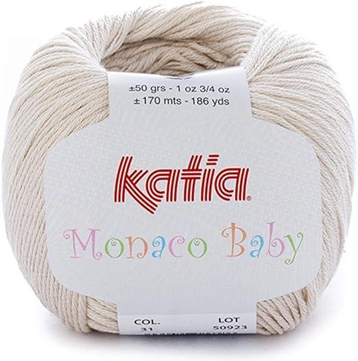 Lanas Katia MONACOBABY Ovillo de Color Arena Cod. 31: Amazon.es: Hogar