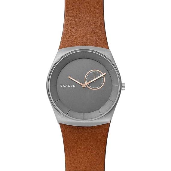 Skagen Reloj Cronógrafo para Hombre de Cuarzo con Correa en Cuero SKW6415