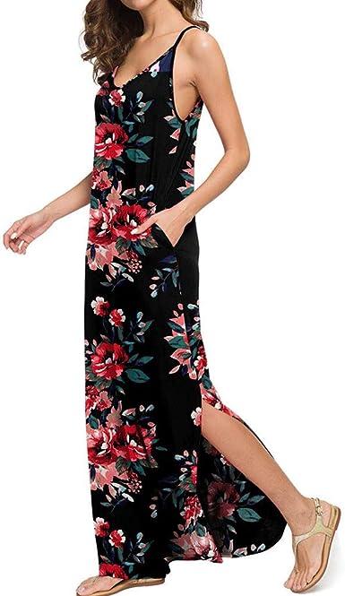 DressLksnf Vestido Casual para Mujer Moda Estilo Bohemio Vestido ...