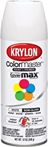 Krylon Sw51508 K05150807 Paint Spray, 12 oz, Semi Gloss White