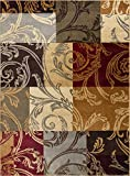 Reagan Transitional Floral Multi-Color Rectangle Area Rug, 4′ x 6′ Review