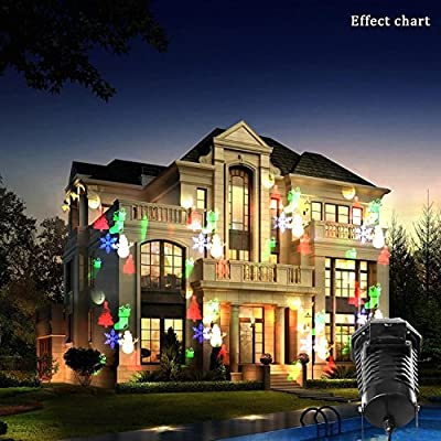 Landscape Spotlight/LED Laser light/Christmas Light Projector With 10 Lighting Patterns, ViMall Waterproof Halloween Party Star Snow Stage Light Led Laser Lamp for Xmas Holiday Garden
