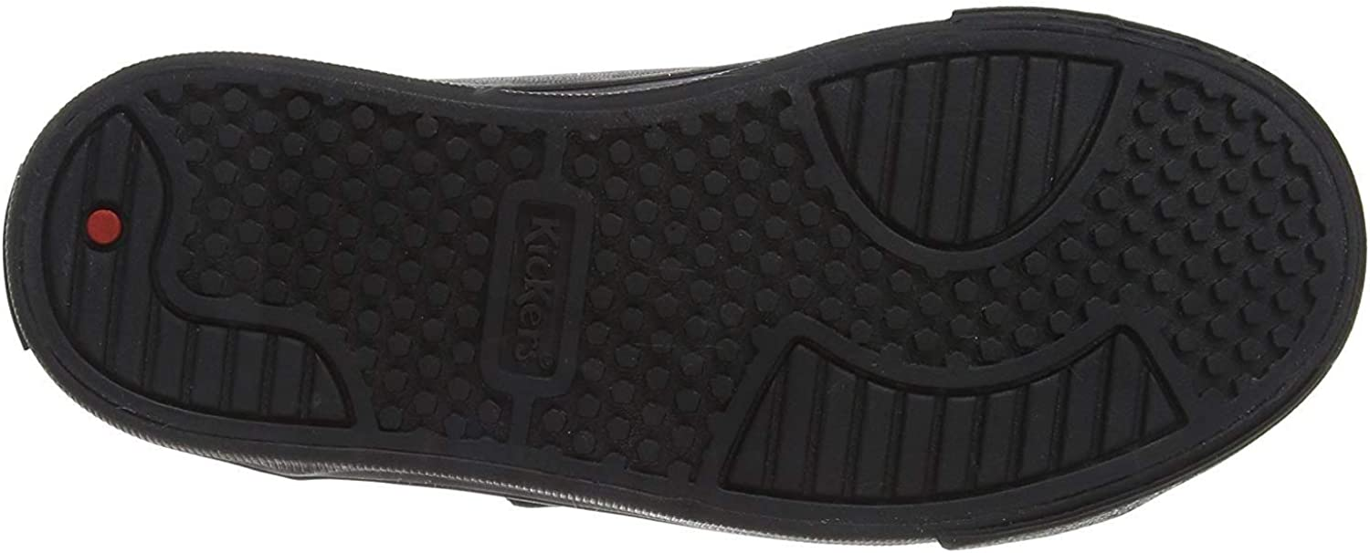 Kickers Tovni Trip Black Leather Youth School Shoes