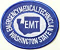 WASHINGTON STATE EMERGENCY MEDICAL TECHNICIAN PARAMEDIC EMT PA DEPT OF HEALTH Logo T shirt Jacket Uniform Patch Sew Iron on Embroidered Sign Badge Costume