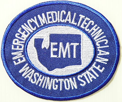 WASHINGTON STATE EMERGENCY MEDICAL TECHNICIAN PARAMEDIC EMT PA DEPT OF HEALTH Logo T shirt Jacket Uniform Patch Sew Iron on Embroidered Sign Badge Costume (Improvised Halloween Costumes Adults)