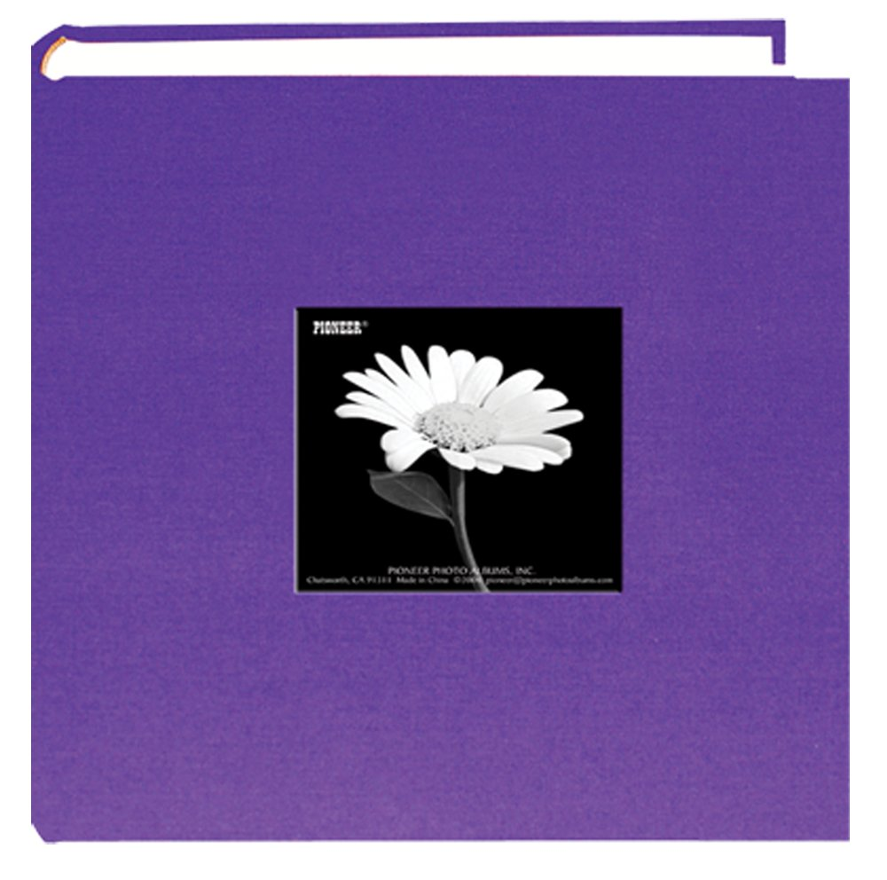 Fabric Frame Cover Photo Album 200 Pockets Hold 4x6 Photos, Grape Purple by Pioneer Photo Albums
