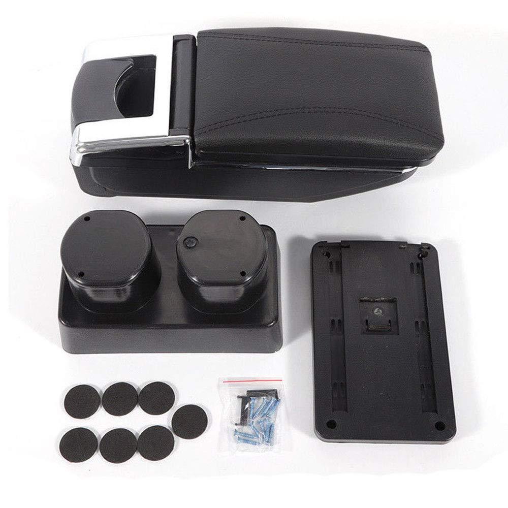 Leatherette Armrest Storage Box for Nissan Versa Nissan Tiida/Latio 2007-2011 DINGYU