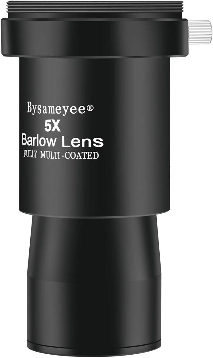 "5X Barlow Lens Telescope Eyepiece 1.25/"" for Celestron /& Phone Adapter Mount"