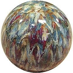 "Alpine TOM252 Ceramic Gazing Globe, Tall Color, 10"", Multicolor"