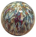 Alpine TOM252 Ceramic Gazing Globe, 10 inch Tall, Multi Color