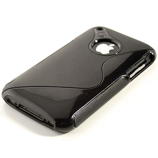 100 opinioni per CUSTODIA IN TPU per Apple iPhone 3G / 3GS Fantasia linea S Nero- Stilosa