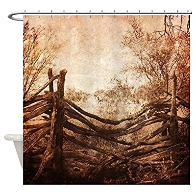 CafePress - rural landscape fence farm Shower Curtain - Decorative Fabric Shower Curtain
