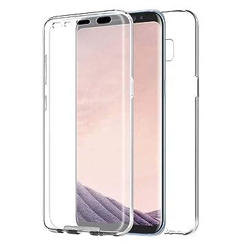 TBOC Funda para Samsung Galaxy S8 - Carcasa [Transparente] Completa [Silicona TPU] Doble Cara [360 Grados] Protección Integral Total Delantera Trasera ...