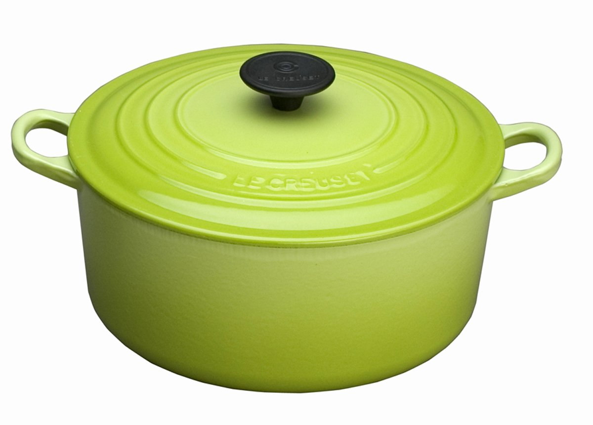 Le Creuset Enameled Cast-Iron 3-1/2-Quart Round French Oven, Kiwi
