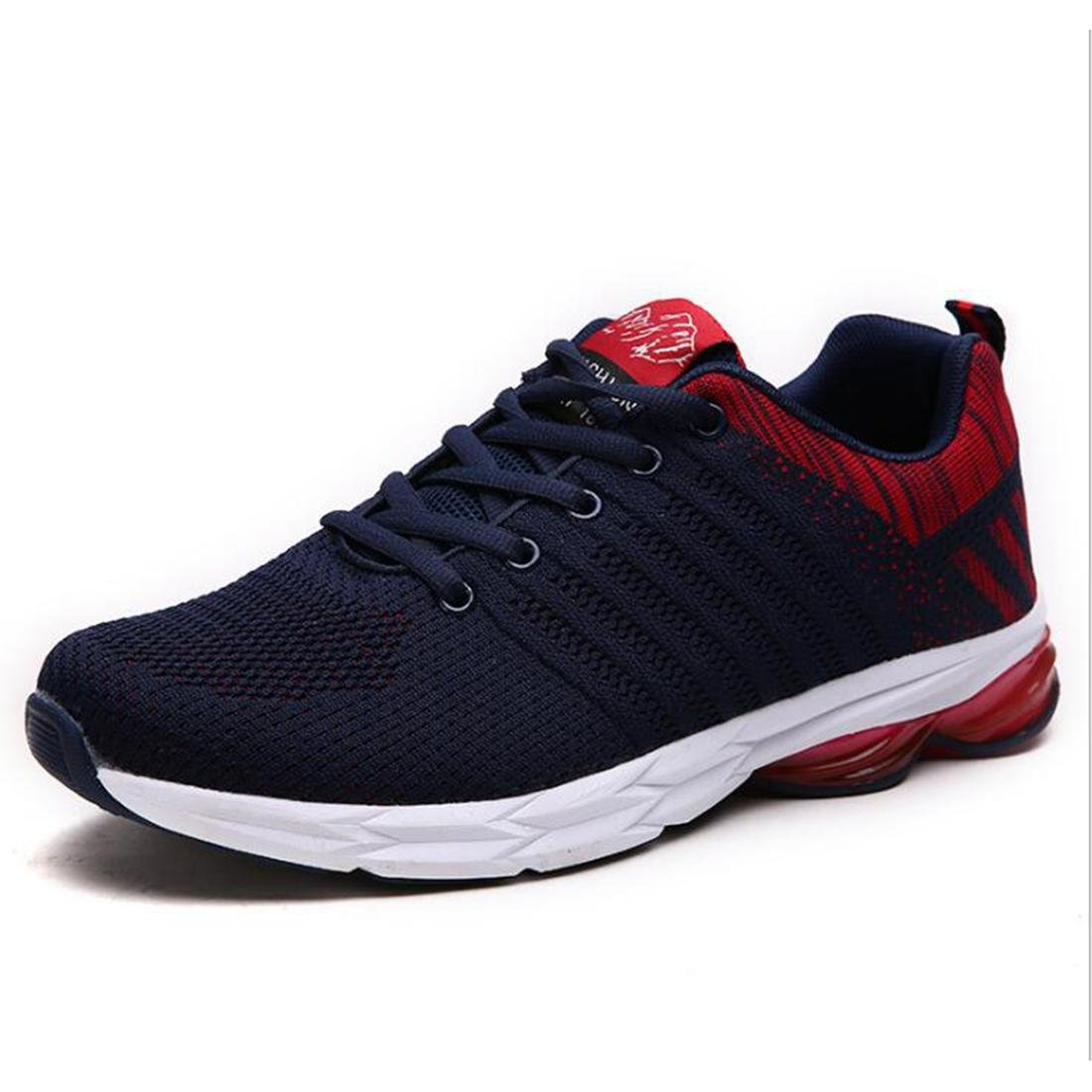 Otoño Loisirs de Plein Air zapatillas de moscas de moda los zapatos de running de la moda de los modelos para caballero, blue red, 43 43|blue red