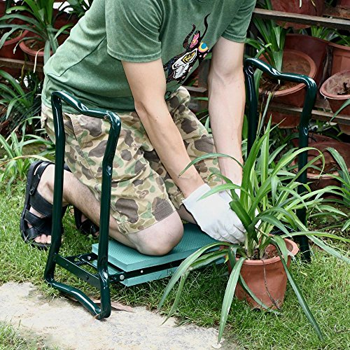 Topeakmart Garden Home Kneeler Seat Pad & Cushion Yard Work Bench Foldable Gardening Gardener Kneeling Stool Chair (Kneeler Garden Stool)
