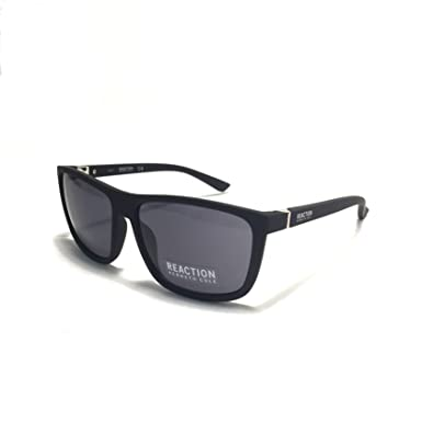 1cedb0b246 Image Unavailable. Image not available for. Color  Kenneth Cole Reaction  Mens Square Matt Black Plastic Sunglass ...